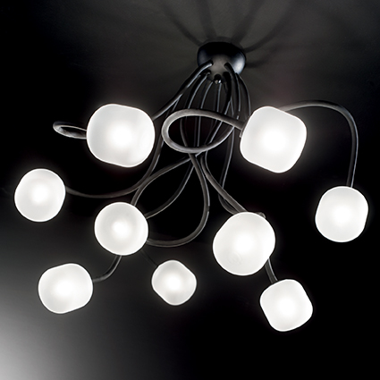 Ideal Lux OCTOPUS PL9 NERO 175010